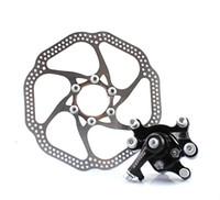 aluminium caliper - Black Mountain Road Bicycle Bike Mechanical Rear Disc Brake Caliper Set Kit Aluminium Alloy mm