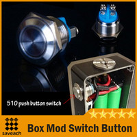 accessories switch box - 2015 NEW Electronic Cigarette Box Mod Dedicated Switch Button mm Screw Metal Waterproof Push Button Switch Box Mod DIY Accessories