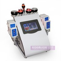 Wholesale 6 In Fast Home Use RF Vacuum Cavitation Machine Ultrasonic Lipolysis Fat Reduction Slimming Equipment Lipo Laser Body Shaping Weight Loss