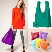 Wholesale New Eco Womens Shoulder Bags Pouch Tote Handbag Folding Reusable Shopping Travel Bags