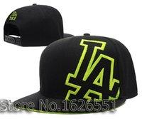 angeles sides - 2015 Men s LA sport team hats big side slant logo Los angeles dodgers black green adjustable baseball snapback caps