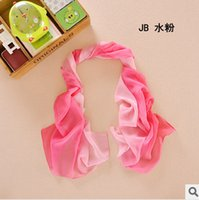 Wholesale Special approval seasons wild solid color zone gradient color scarf chiffon scarf towel