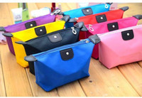 Wholesale High Quality Lady MakeUp Pouch Cosmetic Make Up Bag Clutch Hanging Toiletries Travel Kit Jewelry Organizer Casual Purse DHL