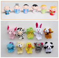 Wholesale Baby Toy Cartoon Finger Puppet Finger Toy Finger Doll Animal Doll Baby Dolls for Kid s Fairy Tale Family Toys A