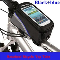 Wholesale 7 Colors Roswheel quot quot quot Inch Waterproof Cycling Bike Front Tube Bags Front Phone Bag Case Holder For IPhone Mobile Cell phone