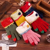 Cheap Finger Gloves Five Fingers Gloves Best Material: wool 40%;Rabbit 20%; acrylic30 Blending Wool knitted gloves
