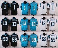 Wholesale Discount American Football Jerseys Luke Kuechly Cam Newton Kelvin Benjamin White blue Black Elite embroidery logo Mix Order