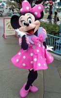ohlees Venta caliente Minnie Mickey Mouse traje de la mascota para el tamaño de Halloween Navidad Adulto calidad de Hight