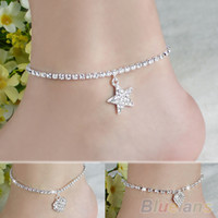 Wholesale Hot Multi pattern Love Heart Star Wedding Sandal Beach Anklet Chain Foot Jewelry T23
