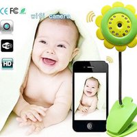 Wholesale P2P Flower wifi camera baby monitor Night vision IP camera monitor supports IOS Android smartphone ipad