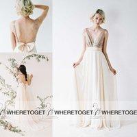 Wholesale 2015 Custom Made Bridesmaid Dresses A Line Deep V Neck Backless Sequined Long Bridesmaids Dresses Maid Of Honor Dress