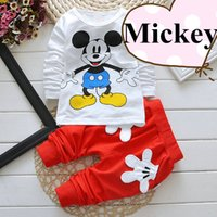 mickey - baby clothes special kids clothes long sleeve unisex girls favorite Mickey baby clothes soft casual boy clothes with four colors