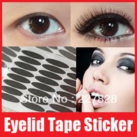 Wholesale 1 pairs packs Black Eyelid Tape Sticker Double Eye Paster Eyeliner Sticker Thick