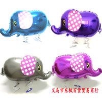 see picture balloon animals elephant - 50pcs Children s Toys Top Seller Animal Walking Foil Balloon Four Colors Elephant Walker Balloon Good Kids Gift