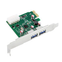 Wholesale PCI E PCI Express port USB Card Adapter w USB Front Panel