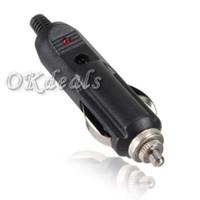 Wholesale 12V Universal Male Car Cigarette Lighter Socket Plug With Fuse Connector Adaptor