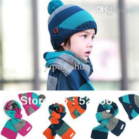 Wholesale New arrival Child Set Baby wool winter hat scarves M0317