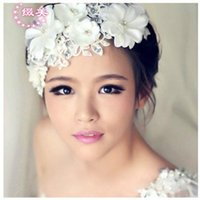 Wholesale New Korea Bride Flower Headband Festival Wedding Hair Band Headwear Hair Accessories