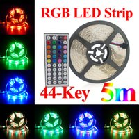 Wholesale Super Brigh LED Strips ft M Waterproof Flexible leds Color Changing RGB SMD3528 LED Tape Lamp Strips Key Remote V Power Supply