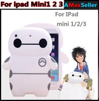 animal print table covers - High quality Baymax Silicone White ipad Case Cute Cartoon Table PC Cases Fashion Luxury ANti dust Back Cover for ipad mini