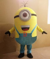 Wholesale Despicable Me Cartoon Minions Mascot Costume Adult Size Cartoon Clothing Yellow Minions Mascot Costume Halloween Party Dress