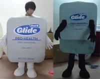 dental costumes - RH0414 adult dental floss box mascot costume