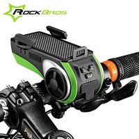 bicycle phone ringing - ROCKBROS Waterproof Bicycle Phone Holder Bluetooth Audio MP3 Player Speaker mAh Power Bank Bicycle Ring Bell Bike Light