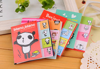 Wholesale 20 off Cute animal girl two fold Scratchpad South Korean stationery girl N times stickers sticky notes book notebook Office SchooL