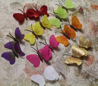 Wholesale Piece Simulation Butterflies Fridge Magnets Wall Stickers Wedding Home Decoration