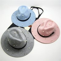 beaded pot - Korean foldable pots hat sweet beaded wool autumn and winter warm hat