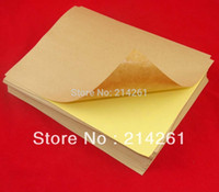 adhesive laser paper - A4 Sticker Paper Label Printing Paper sheets X297mm Self adhesive A4 Blank Kraft Label Paper for Laser Inkjet Printer