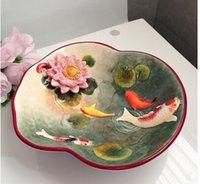 venda por atacado porcelain plates-Atacado-placa prato Porcelain Plate caixa dos doces de frutas Ferramentas vegetais