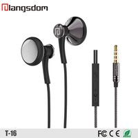 bass magnet - Original Langsdom T16 For Iphone s Heavy Bass Metal Magnets With High Fidelity Headphone DJ Headphones mm General Headphones