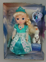 Wholesale Frozen toys Snow Glow Elsa Singing Doll With Music quot Let it go quot Boneca Elsa Dolls with Cute Olaf Toys for Girls Birthday Gift