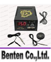 Wholesale Hot Pro Digital LCD Tattoo Power Supply Foot Petal Clip cord For Tattoo Gun Needle Ink Grip Kits LLFA3172F