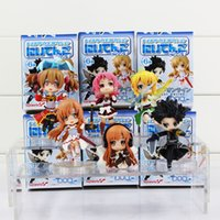 Stuffed asuna sword - Sword Art Online cm Fairy Dance Kirito Asuna Lefa PVC Action Figures set Toys
