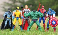 bat man action figures - the avengers action figures set the avengers pvc action figure Bat man Hulk Thor Captain America Spider Man Wolverine Figure avengers