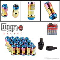 Wholesale dyno racing NEW VOLK Neo chrome MM FORMULA WHEELS LOCK RACING LUG NUTS X1 ACORN RIM CLOSE END A3