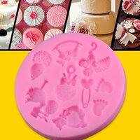 baby jello - Baby Trojan bear shape Chocolate Candy Jello D silicone fondant lace Mold Mould cake decoration pastry tools