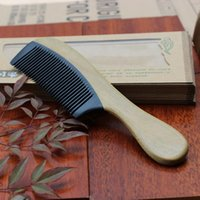 bakelite comb - Green Sandalwood bakelite handle comb comb round handle household LTMDMBS