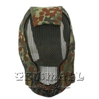 Wholesale Face Masks Strike Steel Mesh Full Protection Face Mask Whole Face Protector with Quick Release Buckle Jungle Camouflage MZ8 the Newest