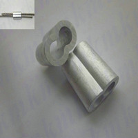 Wholesale 1000PCS rigging hardware US figure type aluminum crimp double hourglass sleeves ferrule for wire rope