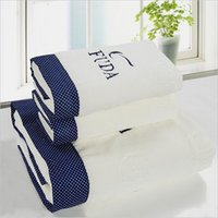 Wholesale Thick three piece cotton towels bath towels hotel towels home untwisted yarn towel gift strong absorption