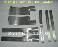 Wholesale 2013 Mitsubishi Outlander threshold door sill step cover Stainless steel scuff plate Door sill