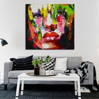 Oil Painting beautiful portrait paintings - Beautiful Wall Pictures Cool Girl Figure Portrait Oil Paintings Handpainted Abstract People Oil Paintings Canvas