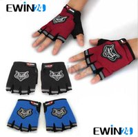 Wholesale Black Pair Men s Motorcycle Motorbike Racing Bike Fingerless Gloves pairs New fashion sports gloves Concise fashion