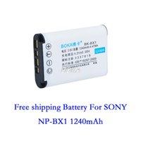 Gratis PILAS 1240mAh 3.6V del envío de SONY NP-BX1 Cyber-shot DSC-RX100 DSC-RX1 Acción Cam BATERÍA