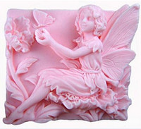 Wholesale 2 quot Fairy Flowers Play with Butterfly Craft Art Silicone Soap Mold Craft Molds DIY