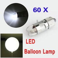 Wholesale 60pcs Led ball lamp balloon light for Paper Lantern Balloon light party wedding decor white color balloon light