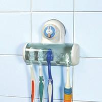 bathroom bins products - bathroom accessories shelf Bin Toothbrush Holder wall Suction Stand Rack Set wall shelf bath products